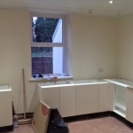 Kitchen taking shape! Floor and some units in.